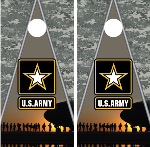 Army Soldiers Digital Camo Cornhole Board Wraps Decals Graphics Skins