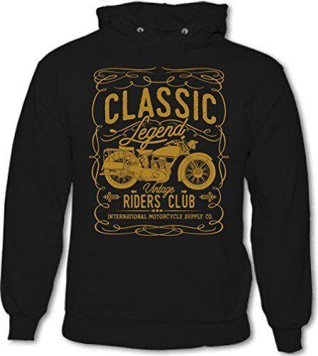 Mens Biker Hoodie Motorbike Indian Motorcycle Bike Classic Legend Riders Club