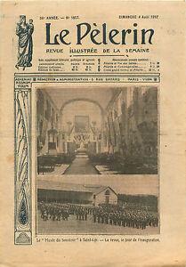 """École spéciale militaire de Saint-Cyr Musée du Souvenir Revue 1912 ILLUSTRATION - France - Commentaires du vendeur : """"OCCASION ATTENTION,QUE LA COUVERTURE, PAS LE JOURNAL ENTIER. Just the cover, not newspaper."""" - France"""