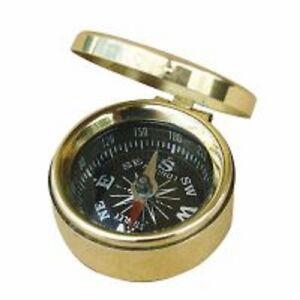 sea club kleiner kompass mit deckel taschenkompass messing 3 5cm ebay. Black Bedroom Furniture Sets. Home Design Ideas
