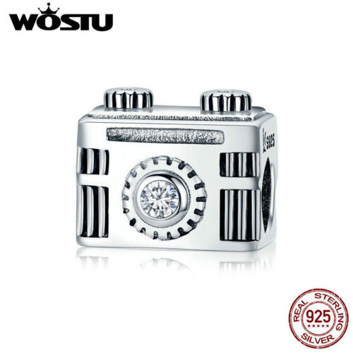 Wostu Fashion Argent Sterling 925 APPAREIL PHOTO CHARME fit for European Charm Bracelet