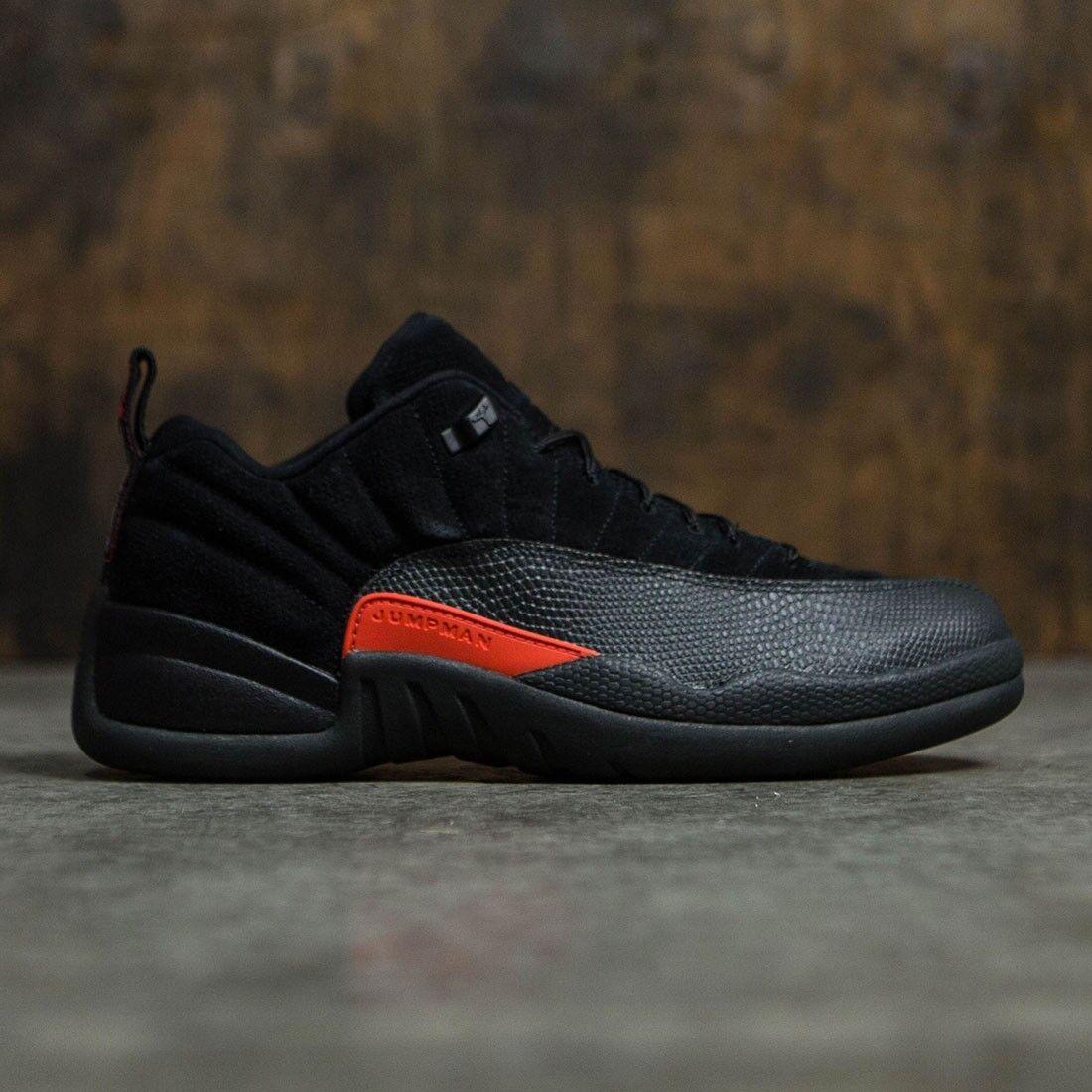 Nike Air Jordan 12 12 12 XII Retro Low Black Max orange Size 10.5. 308317-003 playoff b3e54f