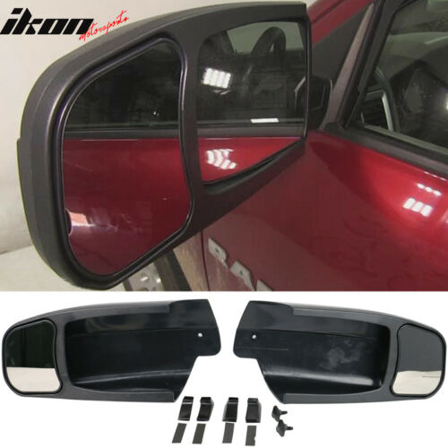 Fits 09-14 Dodge Ram 1500 OE Factory Style Side View Towing Mirror Extension 2Pc