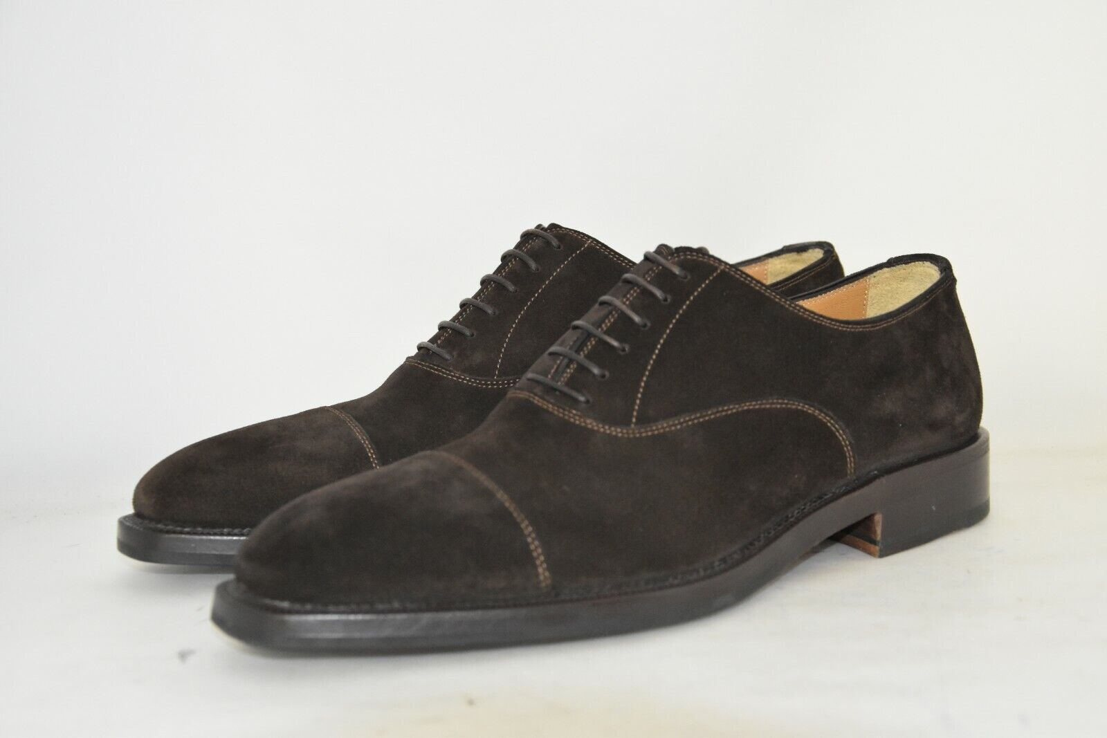 MAN-8eu-9us-OXFORD CAPTOE-FRANCESINA-DK marron SUEDE-CAMOSCIO marron-LEATHERSOLE