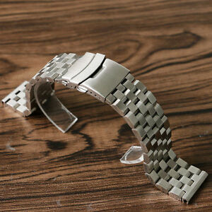 Metal-Bracelet-Wrist-Watch-Band-Stainless-Steel-Strap-Straight-New-20-22-24mm