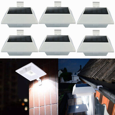 2x Solarlicht Dachrinneleuchte mit Bewegungsmelder 12LEDs für Garten Beleuchtung