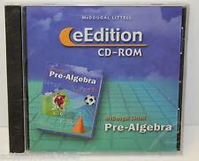 McDOUGAL LITTELL PRE-ALGEBRA GRADE 6-9 eEDITION CD-ROM - BRAND NEW