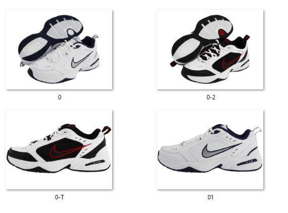 Nuevo En Caja Para Hombre Nike Air Monarch Zapatos Zapatillas Todos Tamaños Mediano Y 4e amplia Elige Color
