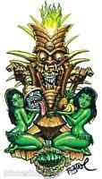 Zombie Tiki Sticker Decal Artist Big Toe BT4