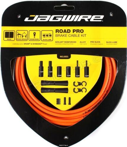 Orange Jagwire Road Pro Bicycle Brake Cable /& Housing Kit fits SRAM Shimano
