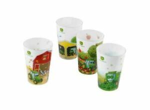 Genuine-John-Deere-Set-of-4-Kids-Plastic-Cups-Drink-Cup-Children-Kids-Beecher