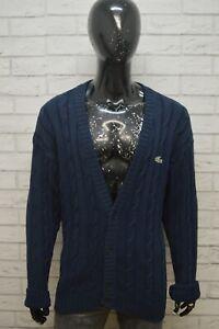 LACOSTE-Uomo-Taglia-Forte-Maglione-Cotone-Pullover-Cardigan-Sweater-Man-Blu