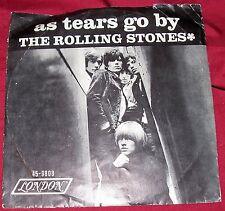 "Rolling Stones 45 Record As Tears Go By Gotta Get Away Single London Lon 9808 7"""