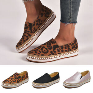 Women-039-s-Espadrilles-Loafers-Classic-Slip-On-Flat-Round-Toe-Deck-Shoes-Size-6-10
