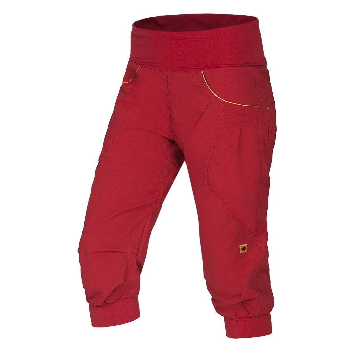 Ocun Noya Short Mujer ,3 4-Lange Pantalones para Escalar Mujer,Rojo -