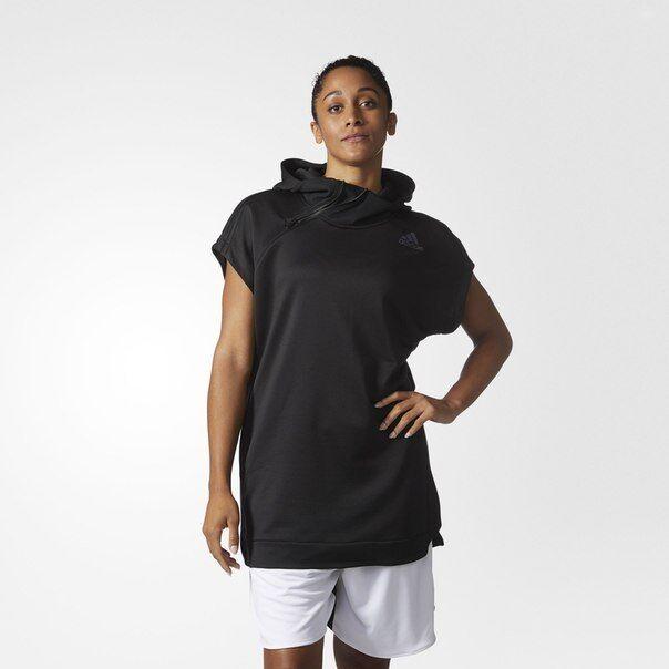 Adidas Donna Striscia 3 Basket Shooter Manichetta Felpa con Cappuccio Risparmia