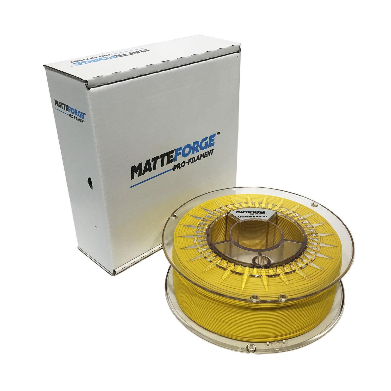 MATTEFORGE : Advanced Matte PLA 3D Printer Filament - 2.85mm YELLOW (1KG)