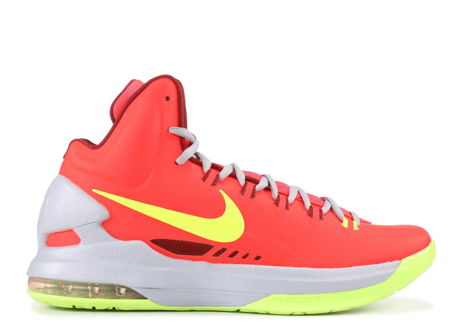 2012 Nike KD V 5 Taille 8.5 Bright Crimson Volt Kevin Durant DMV Elite 554988-610
