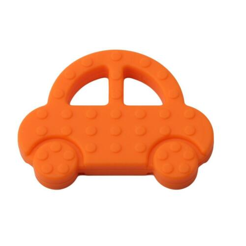 Creative Silicone Baby Car Shape Teether Baby Chewable Teething Sensory Toy DD