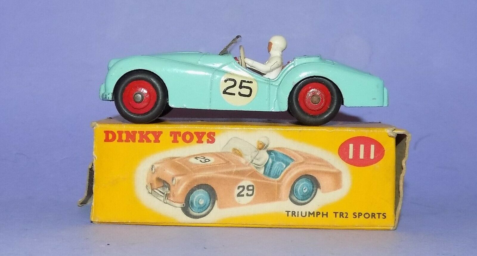VINTAGE  1956-1959    DINKY TOYS  NO 111  TRIUMPH TR2 SPORTS CAR  493