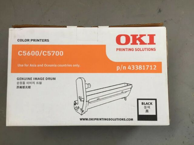OKI C5600 C5700 Genuine Image Drum - Black