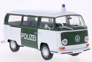 VW Volkswagen T2 Bus - 1972 - Police - WELLY 1:24