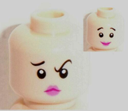 Lego Light Flesh Minifig Head x 1 Dual Sided Wilma Flintstone Head