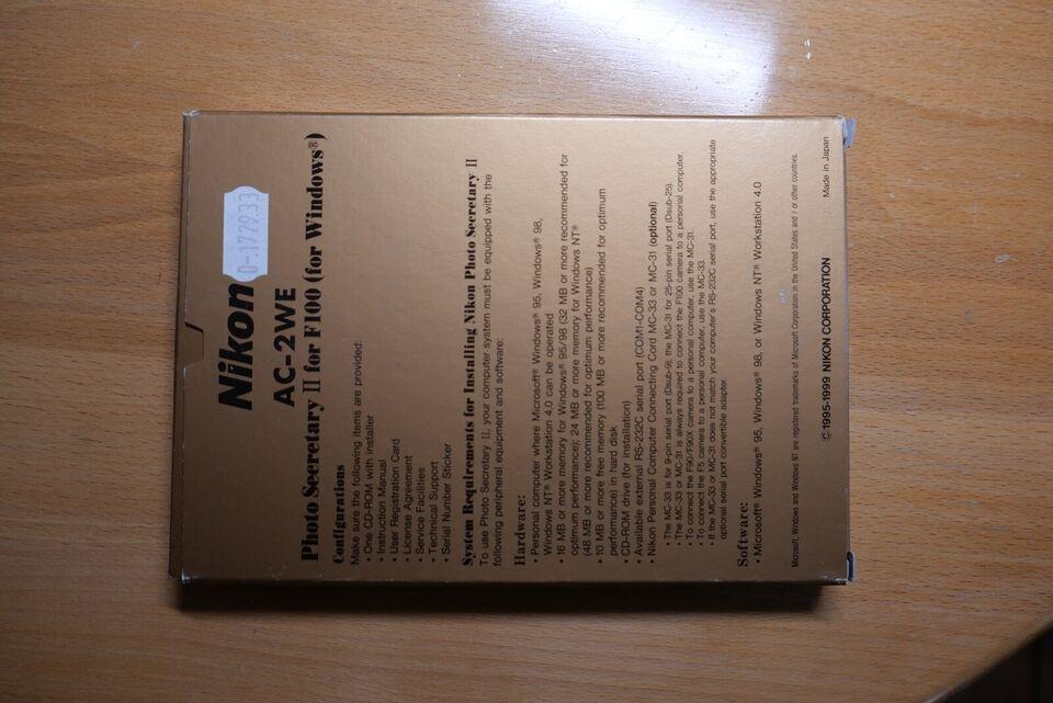 Photo Secretary II F100(F90X/F90/F5) + MC-31, Nikon,