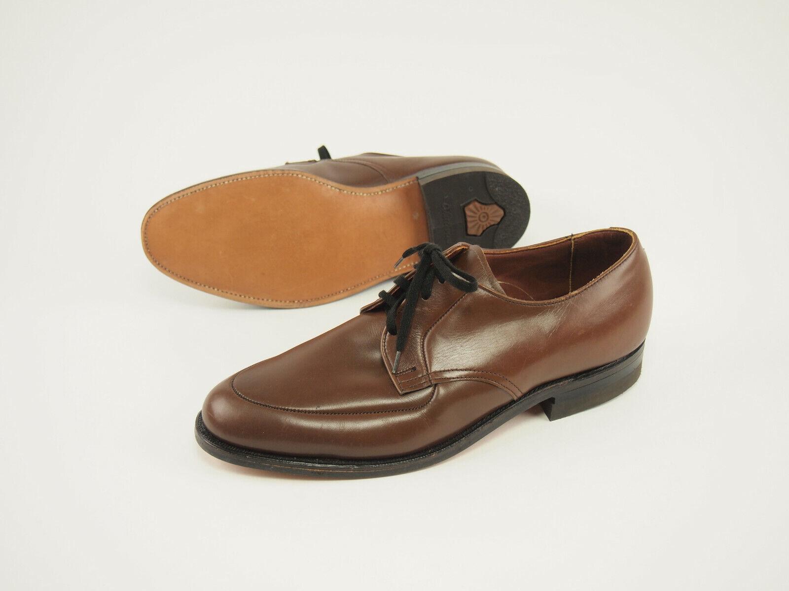 New MASON Vintage 80s Brown Leather Dress Oxfords 8 D