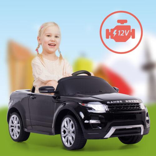 Kinderfahrzeuge Range Rover Kinderauto Kinderfahrzeug Fernsteuerung 12V/2 Elektromotoren Schwarz