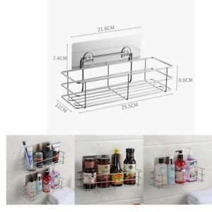 Shower-Shelf-Caddy-Organizer-Vacuum-Suction-Cups-Stainless-Steel