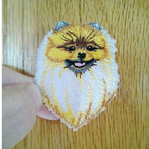 Dog Pomeranian Domestic Pet Puppy Embroidered Iron On Applique Patch Ebay