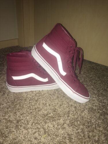 Hi Unisexe 706421794893 Burgundy Sneaker Hommes Sk8 Toile Chaussures White Vans Femmes POTwklXZiu