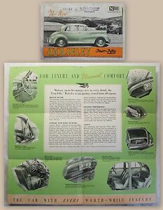 Werbeplakat-Poster-Broschuere-Wolseley-Four-Fifty-4-50-Automobil-um-1950-Oldtimer