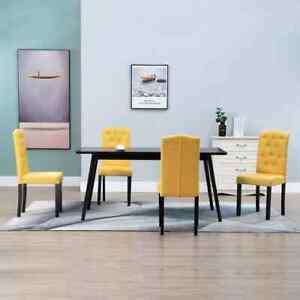vidaXL 6x Chaise de Salle à Manger Similicuir Noir Sièges Chaises de Cuisine