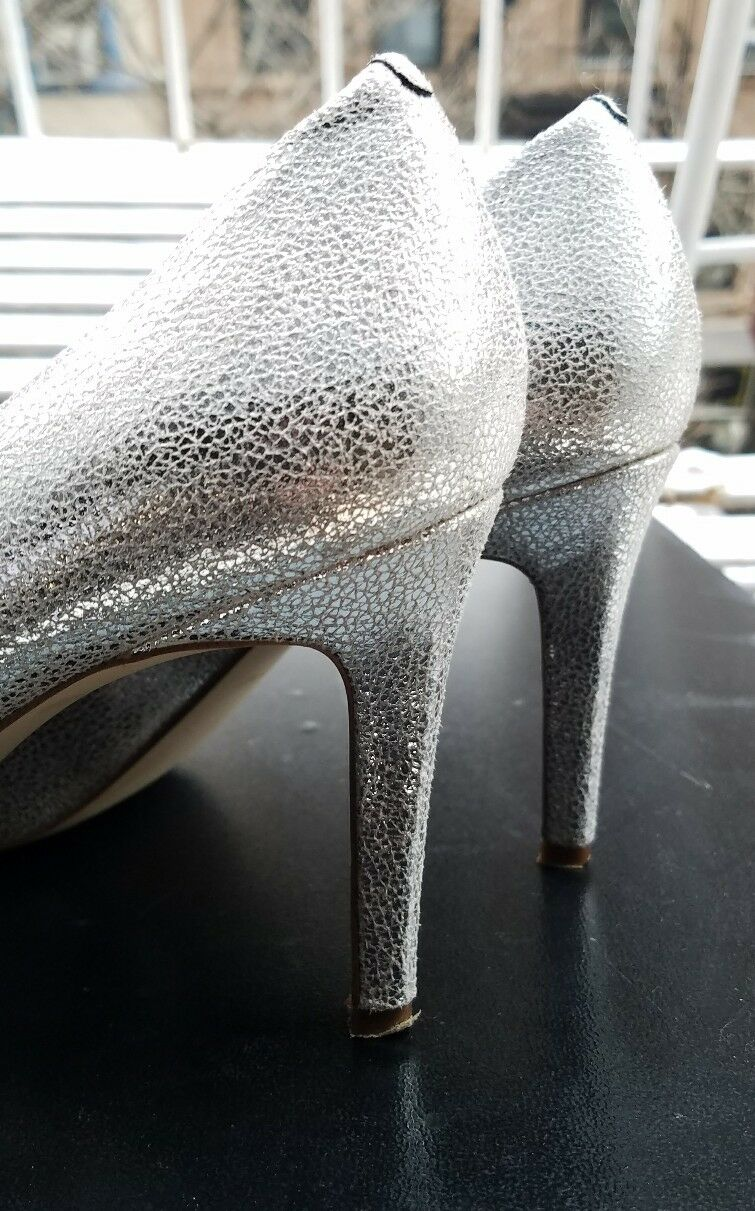PRE-OWNED J.CREW GLITTER Gold PUMPS Sz 9 Gold GLITTER Silber BLING HEELS. IN EXCELLENT CON f5cc0b