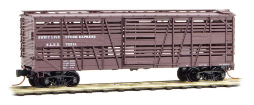 Micro-Trains MTL N-Scale 40' Despatch Stock Car Swift Live Stock Express #72221