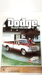 1978-DODGE-Pickups-Original-Color-Sales-Catalog-Excellent-Condition-US