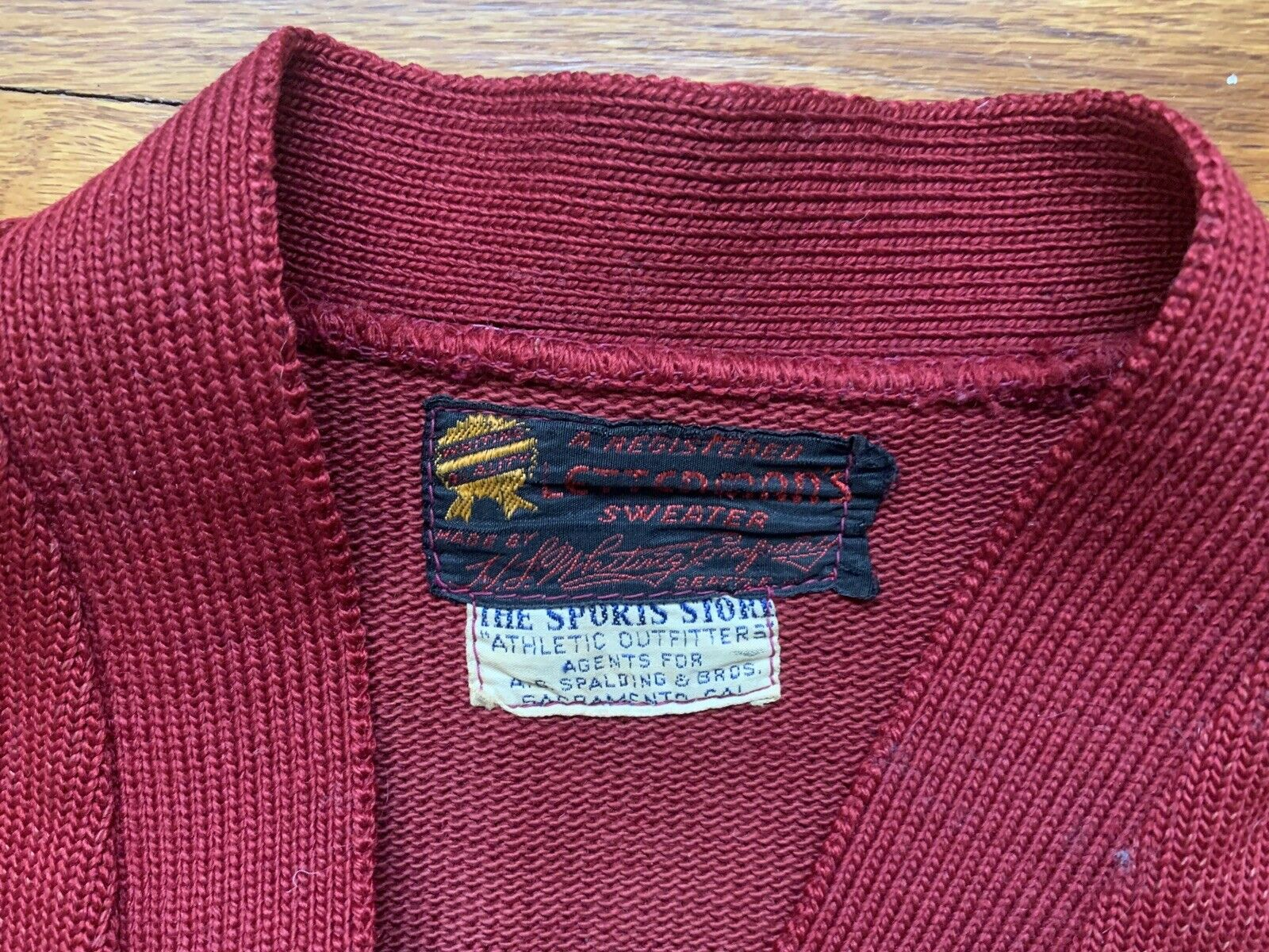 40's/50's Letterman Sweater Knit Cardigan Button … - image 3