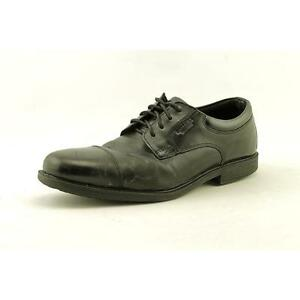 150c53c598e9ac Buy Rockport Essential Detail WP Cap Toe Men US 8.5 Black Oxford Pre ...