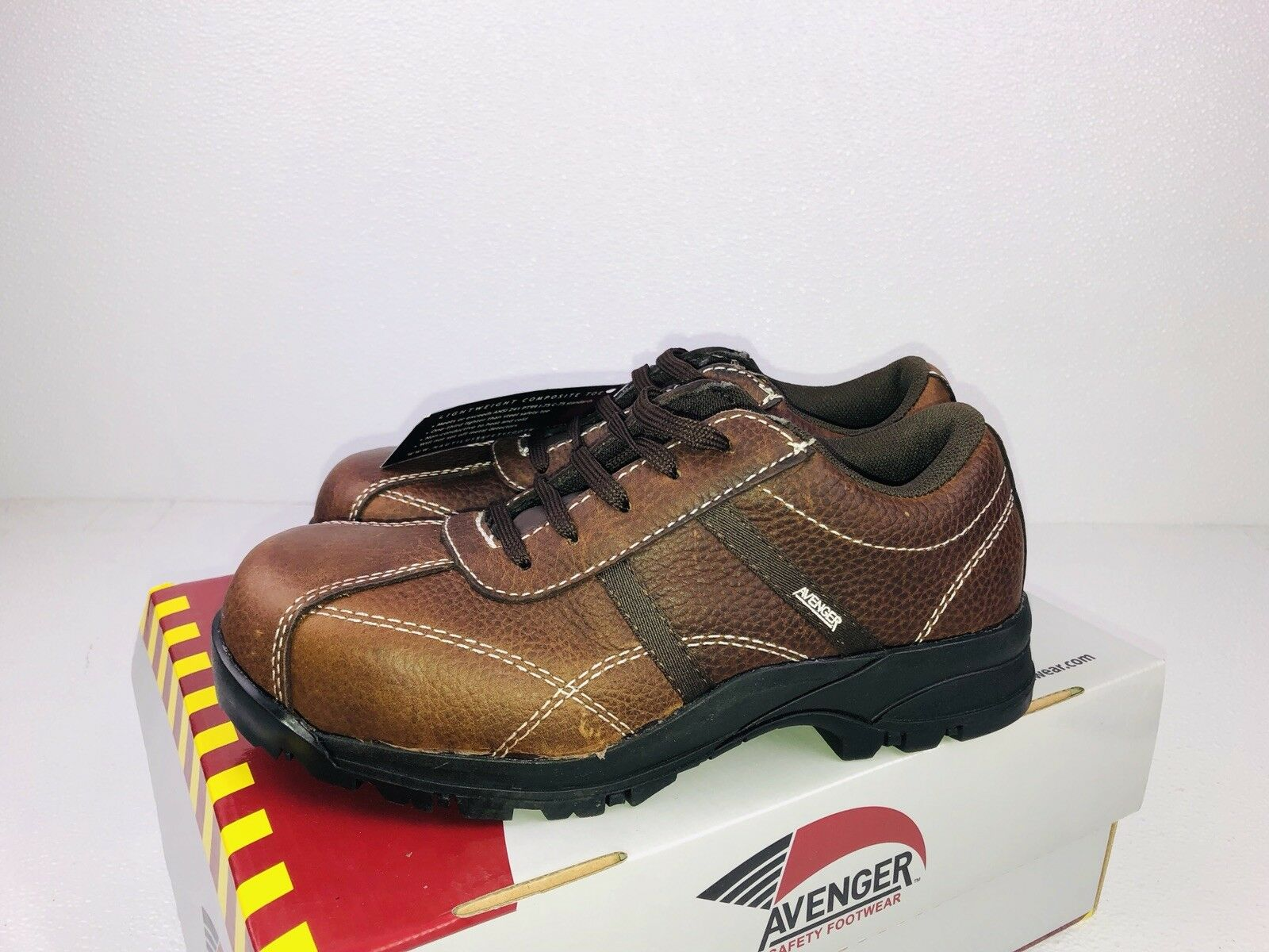 Women's Avenger Safety Footwear EH Composite Toe Leather shoes 7