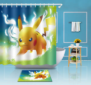 Image Is Loading 72 79 034 Pokemon Bathroom Waterproof Fabric Shower