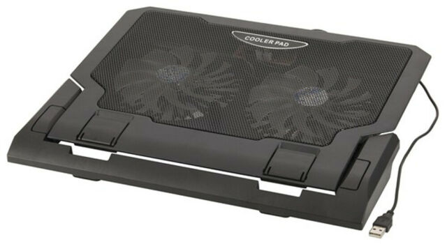 5VDC Black Cooling Pad Notebook Dual 140mm Fan With 2 USB ports