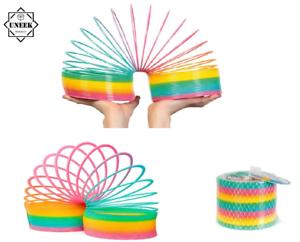 UK Children Giant Magic Rainbow Slinky Springy Indoor//Outdoor Colorful Classic