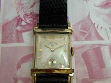 SERVICED 1950`S  ELGIN MEN`S WRISTWATCH..REFURBISHED DIAL  ...EXTREMELY CLEAN