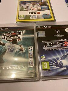 ???? lot 3 jeux playstation 3 ps3 neuf blister fr ihf handball pes 2014 fifa 10