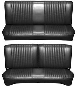 Awe Inspiring Details About 65 Falcon Futura Hardtop Full Upholstery Set W Split Bench Seat Black Ibusinesslaw Wood Chair Design Ideas Ibusinesslaworg
