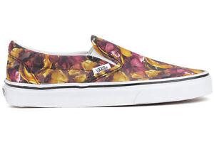 4f4649e47694b5 Vans Classic Slip-On Digi Floral New Unisex Multi True White Shoes ...