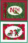 Handmade CROSS STITCH  CHRISTMAS CARDS #CX-V--Lot of 2