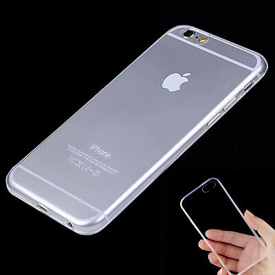 Case For iPhone 5 5S SE 6 6S Plus Samsung Galaxy S6 Edge 0.3mm Clear TPU Cover